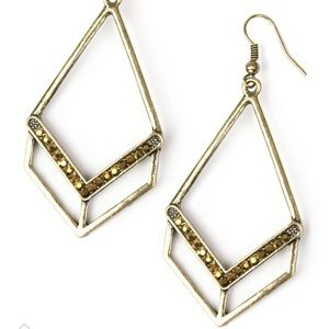 Absolute Alpha - Brass earrings
